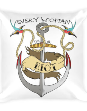 "Femen Pillow ""Every Woman Is A Riot"""