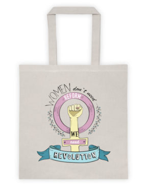 "Femen Bag ""Women Don't Need Reform We Need Revolution"""
