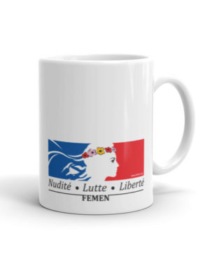 "Femen Mug ""Nudite Lutte Liberte"""