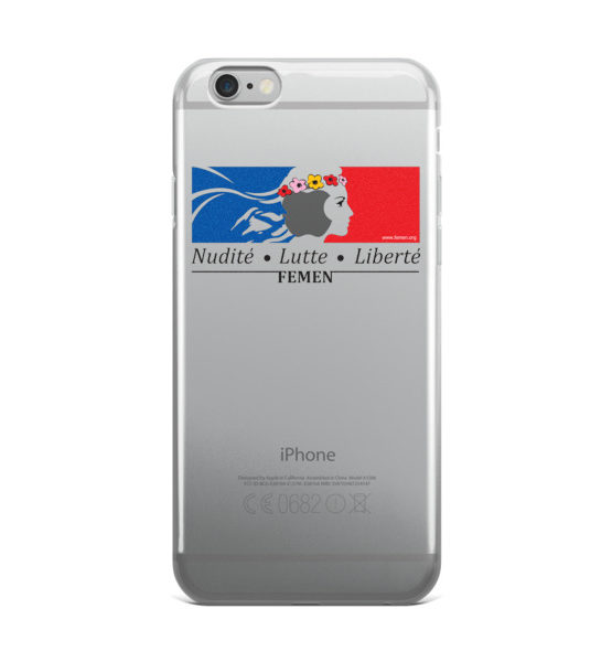 "Femen iPhone Case ""Nudite Lutte Liberte"""