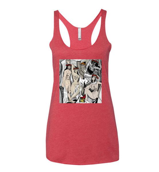 "Femen Woman's Tank Top ""D'avignon"""