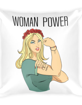 "Femen Pillow ""Woman Power"""
