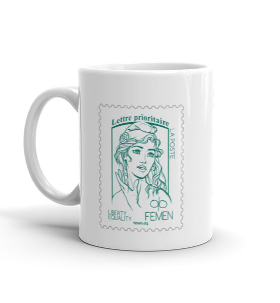 """Femen Mug """"Lettre Prioritaire"""""""