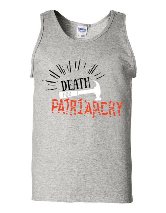 "Femen Man's Tank Top ""Death For Patriarchy"""