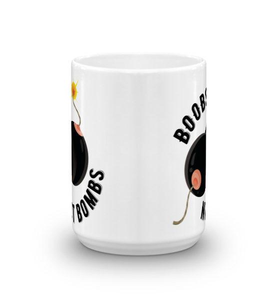 "Femen Mug ""Boobs Not Bombs"""