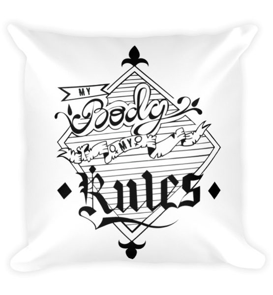 "Femen Pillow ""My Body My Rules"""