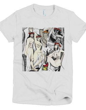 """Femen Woman's T-Shirt """"D'avignon"""""""