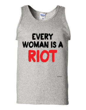 "Femen Man's Tank Top ""Every Woman Is A Riot III"""
