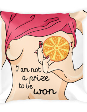 "Femen Pillow ""I Am Not A Prize To Be Won"""