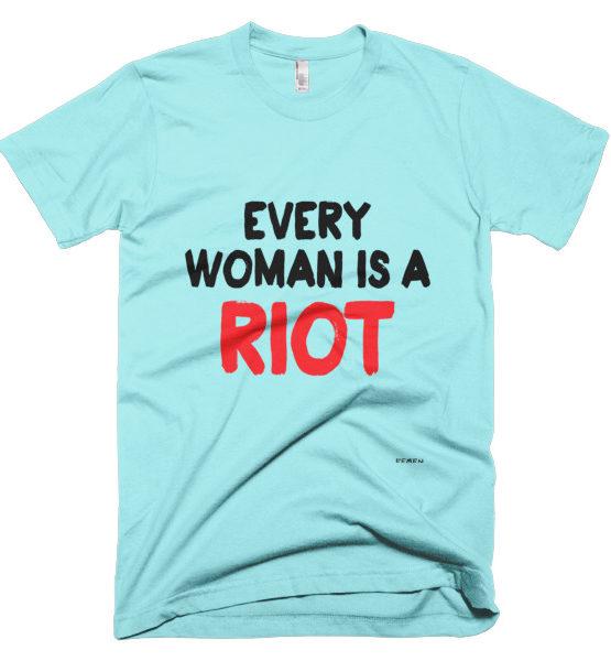 "Femen Man's T-Shirt ""Every Woman Is A Riot III"""