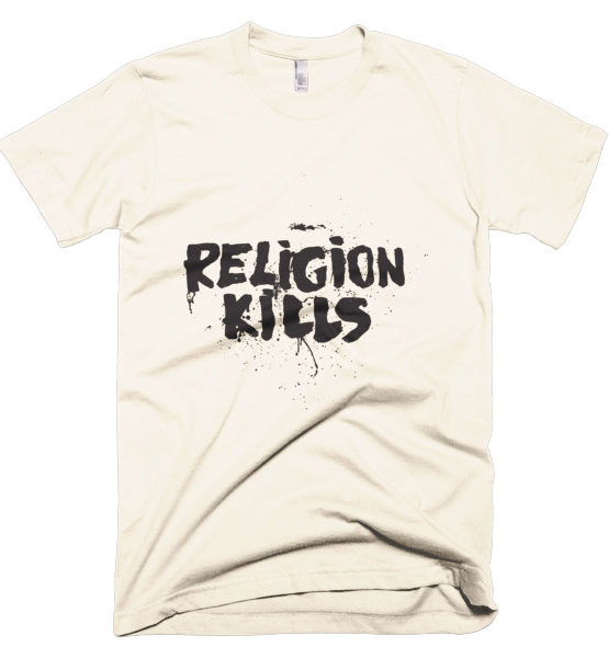 "Femen Man's T-Shirt ""Religion Kills"""