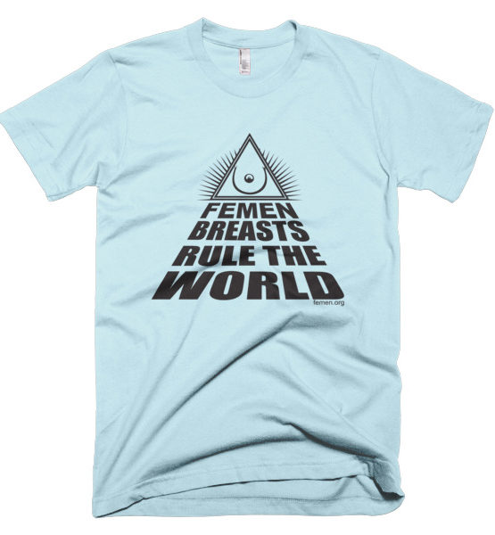 "Femen Man's T-Shirt ""Femen Breasts Rule The World"""
