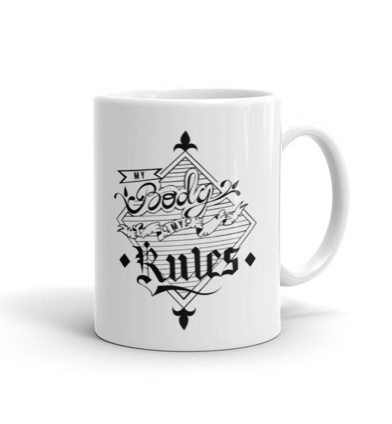 "Femen Mug ""My Body My Rules"""
