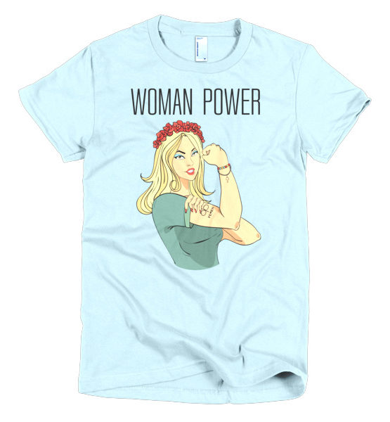 "Femen Woman's T-Shirt ""Woman Power"""