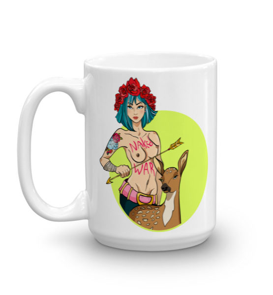 """Femen Mug """"Naked War"""""""
