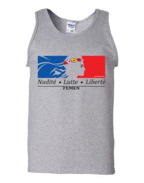 "Femen Man's Tank Top ""Nudite Lutte Liberte"""