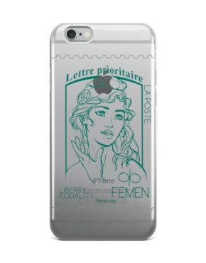 """Femen iPhone Case """"Lettre Prioritaire"""""""
