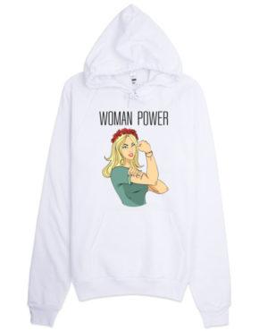 "Femen Unisex Hoodie ""Woman Power"""