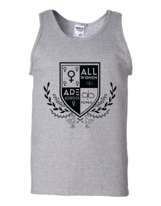 "Femen Man's Tank Top ""All Women Are Heroes"""
