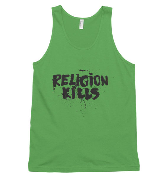 "Femen Unisex Tank Top ""Religion Kills"""