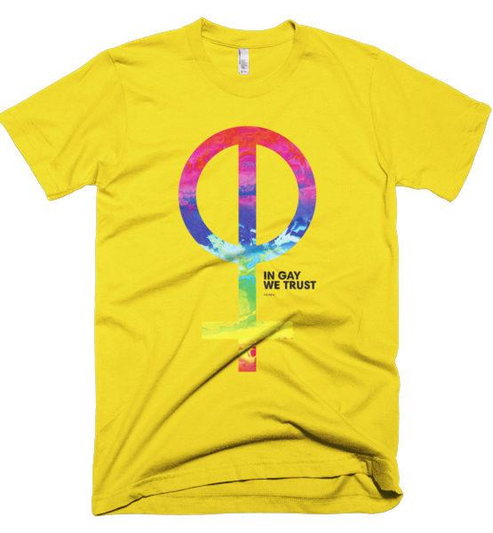 """Femen Man's T-Shirt """"In Gay We Trust"""""""