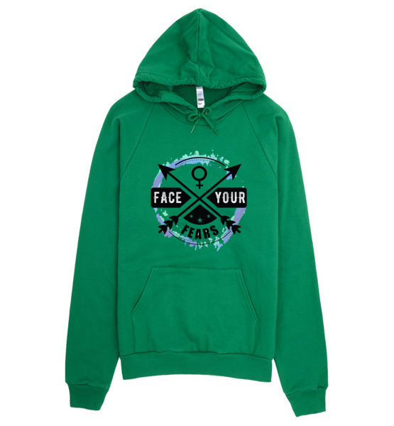 "Femen Unisex Hoodie ""Face Your Fears"""