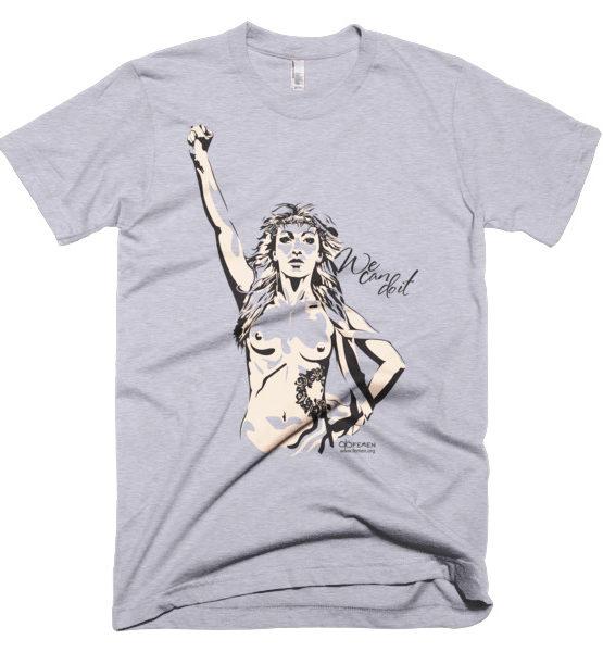 """Femen Man's T-Shirt """"We Can Do It"""""""