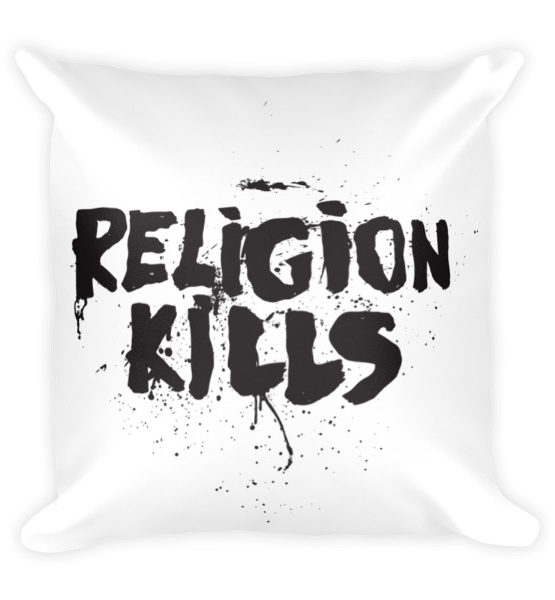 "Femen Pillow ""Religion Kills"""