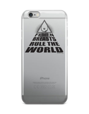 "Femen iPhone Case ""Femen Breasts Rule The World"""