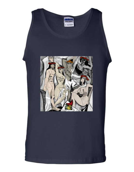 "Femen Man's Tank Top ""D'avignon"""