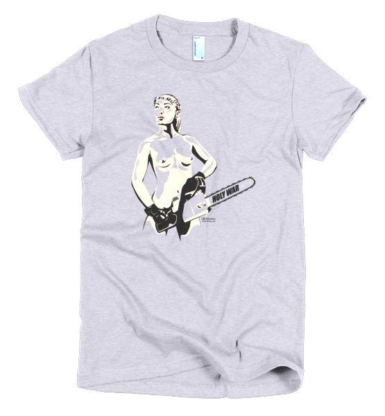 """Femen Woman's T-Shirt """"Holy War"""""""