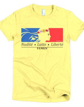 "Femen Woman's T-Shirt ""Nudite Lutte Liberte"""