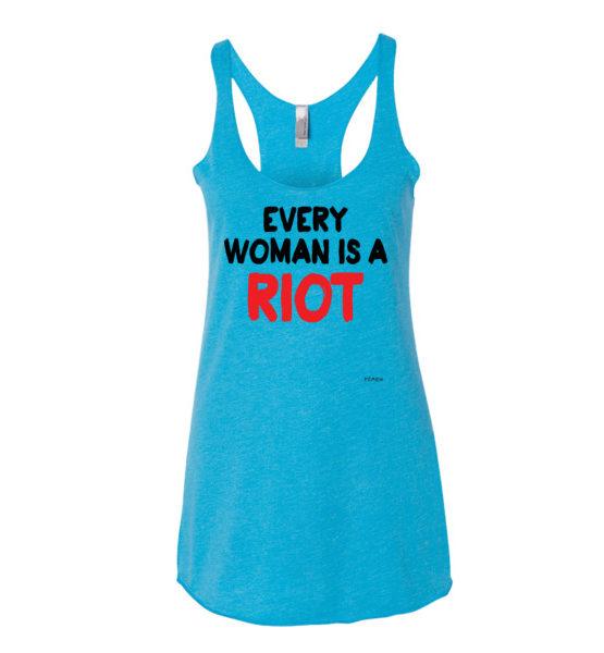 """Femen Woman's Tank Top """"Every Woman Is A Riot III"""""""