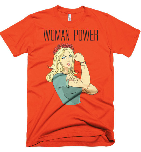 "Femen Man's T-Shirt ""Woman Power"""