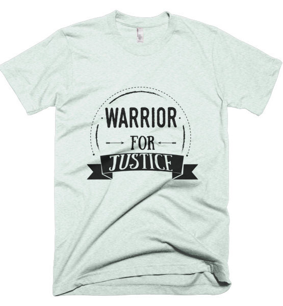 "Femen Man's T-Shirt ""Warrior For Justice"""