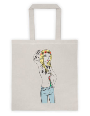 "Femen Bag ""Stop I Am Free"""