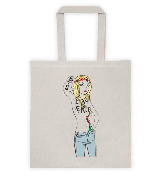 "Femen Bag ""Stop I Am Free"""
