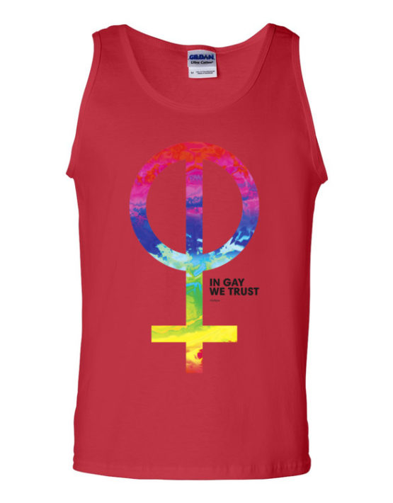 """Femen Man's Tank Top """"In Gay We Trust"""""""