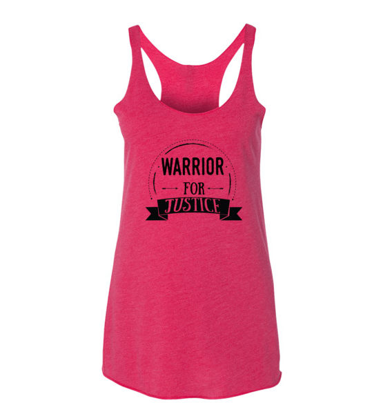 "Femen Woman's Tank Top ""Warrior For Justice"""
