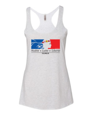 "Femen Woman's Tank Top ""Nudite Lutte Liberte"""