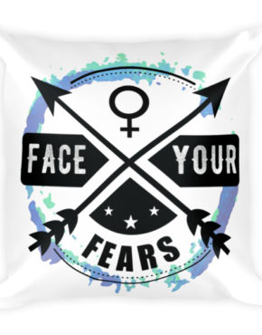"Femen Pillow ""Face Your Fears"""