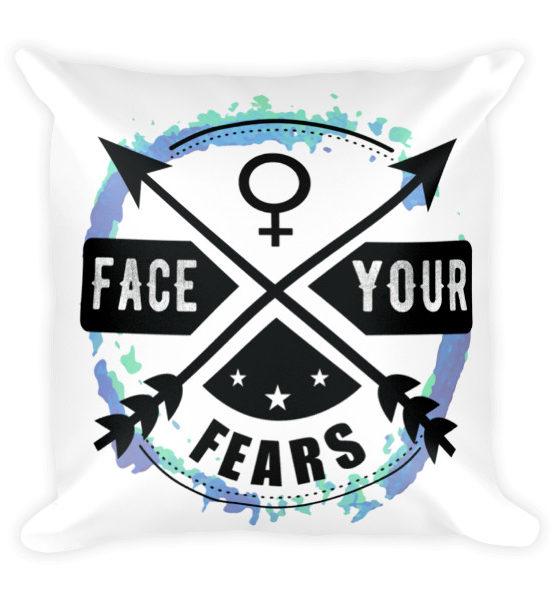 """Femen Pillow """"Face Your Fears"""""""