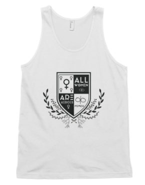 "Femen Unisex Tank Top ""All Women Are Heroes"""