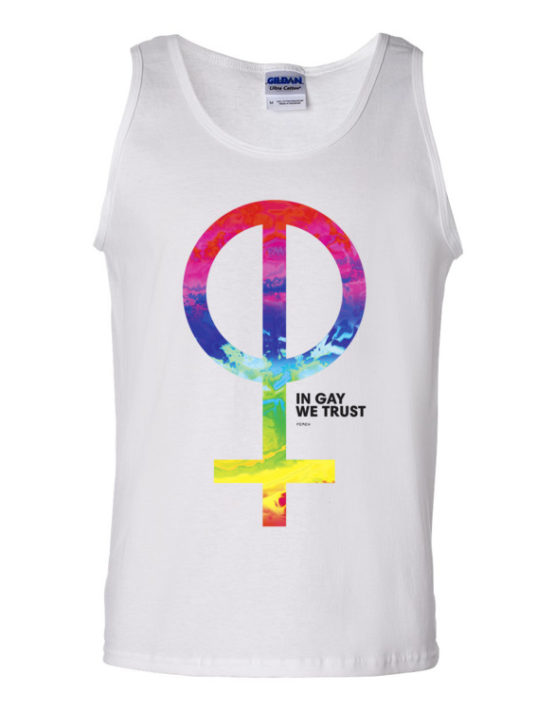 "Femen Man's Tank Top ""In Gay We Trust"""