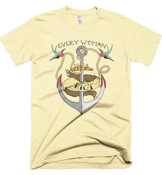 """Femen Man's T-Shirt """"Every Woman Is A Riot"""""""