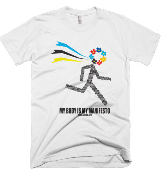 "Femen Man's T-Shirt ""My Body Is My Manifesto"""