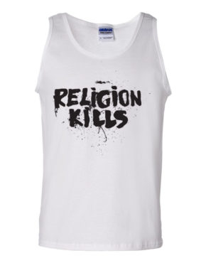 "Femen Man's Tank Top ""Religion Kills"""