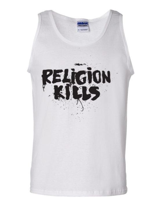 "Femen Man's Tank Top ""Religion Kills"""