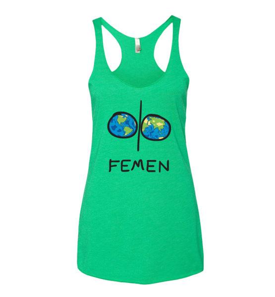 """Femen Woman's Tank Top """"Earth"""""""