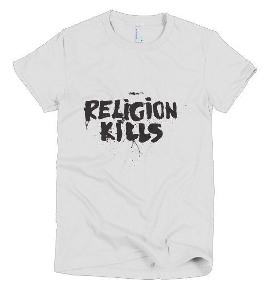 "Femen Woman's T-Shirt ""Religion Kills"""